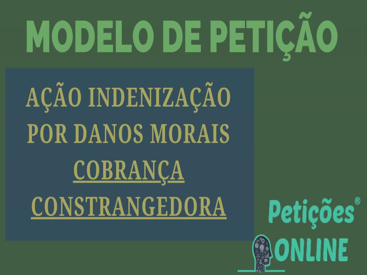 Indenização Por Danos Morais Novo Cpc Ligações Insistentes Ptc323