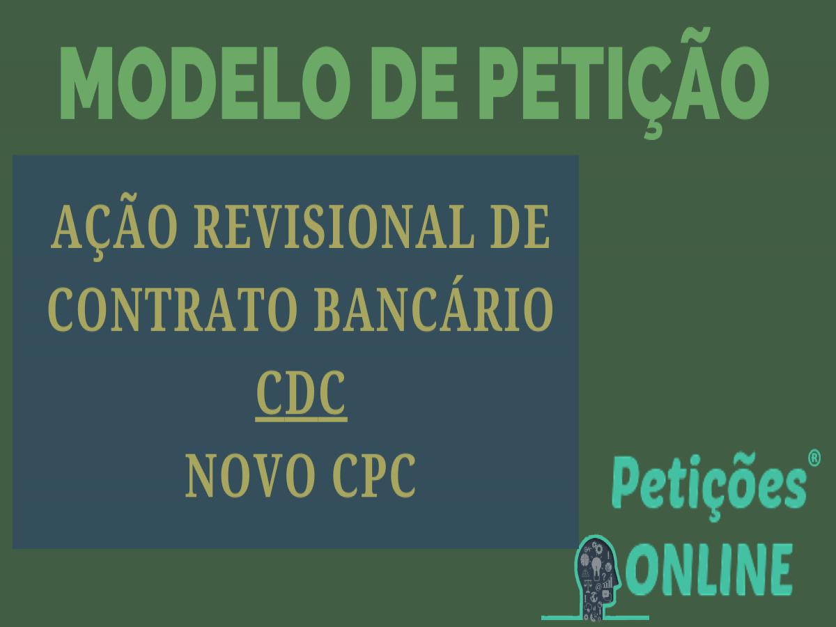 Ação Revisional De Contrato De Crédito Direto Ao Consumidor Cdc Pn537