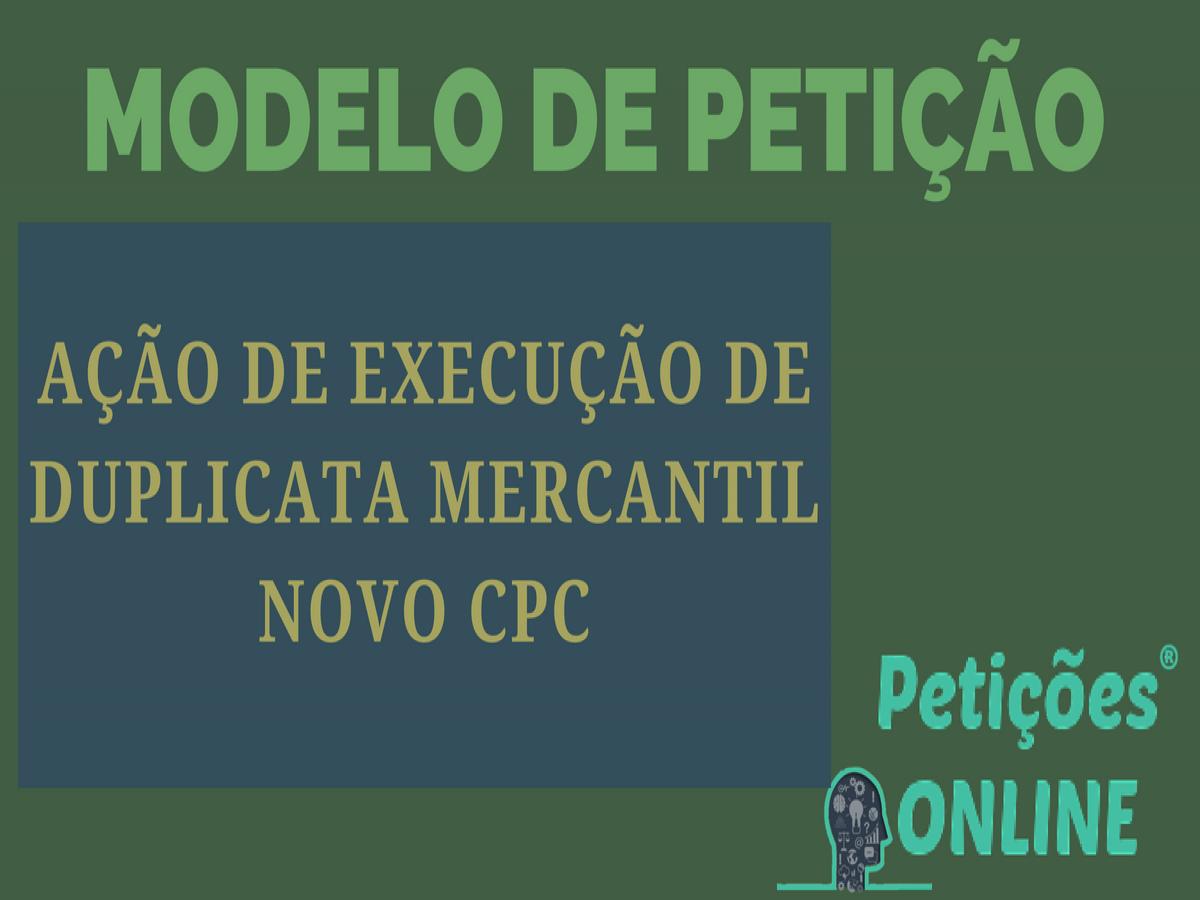 Ação De Execução De Título Extrajudicial Novo Cpc Duplicata Pn612