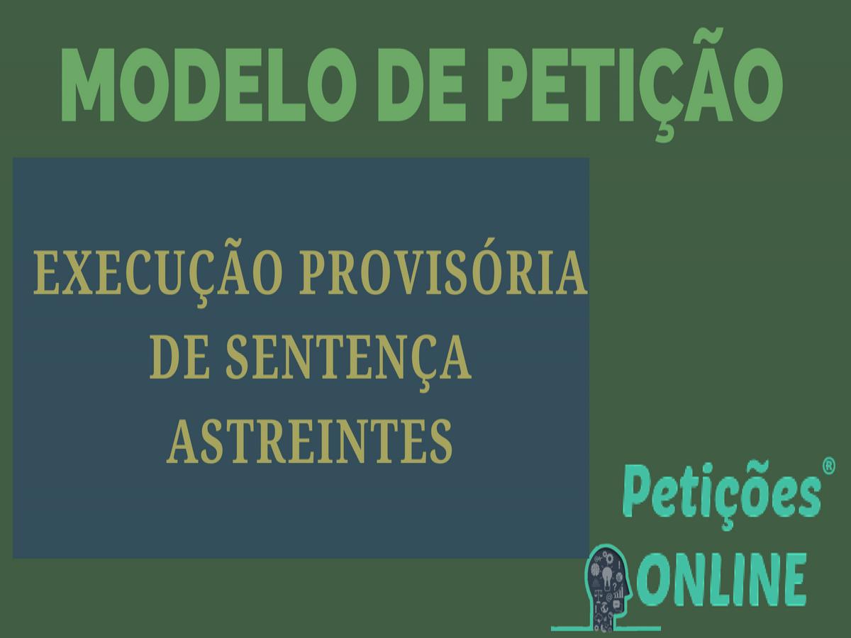 Modelo De Cumprimento Provisório De Sentença Novo Cpc Obrigação De Fazer Plano De Saúde Pn817